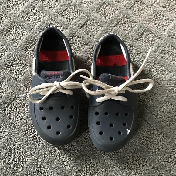 CROCS Shoes | Navy Laced Up Crocs